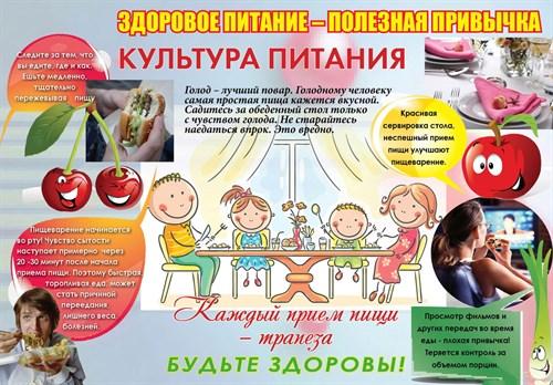 "Стенд ""Культура питания"", 100х70 см - фото 122723"