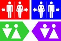 Табличка-указатель WC, 30х20 см