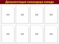 """Стенд """"Докуменация командира взвода"""", 8 карманов"""