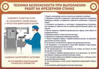 "Стенд  ""Техника безопасности при выполнении работ на фрезерном станке"", 100х70 см"