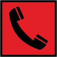 Знак F 05 Телефон для использования при пожаре (в том числе телефон прямой связи с пожарной охраной).