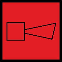 Знак F 11 Звуковой оповещатель пожарной тревоги.