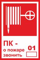 Знак 304 ПК - о пожаре звонить 01.