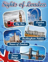 "Стенд  ""Sights of London"", 80х90 см"