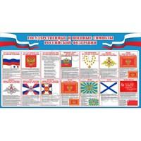 """Стенд """"Государственные и военные символы Российской Федерации"""", 150х80 см"""