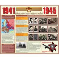 """Стенд """"Вторая мировая война. Великая Отечественная война. 1941-1945 г.г."""", 120х100 см"""
