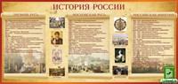 """Стенд """"История России"""", 200х95 см"""