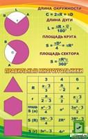 """Стенд """"Правильные многоугольники"""", 70х110 см"""