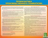 """Стенд """"Профилактика производственного травматизма"""", 100х80 см"""