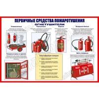 """Стенд """"Первичные средства пожаротушения"""", 60х40 см"""