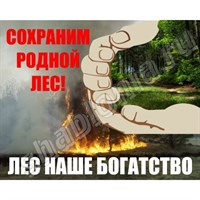"Аншлаг ""Сохрани родной лес"", 150х120 см"