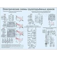 """Стенд """"Электрическая схема грузоподъёмных кранов"""", 150х110 см"""